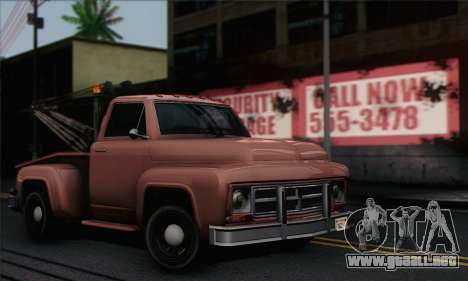Towtruck GTA 5 para GTA San Andreas vista posterior izquierda