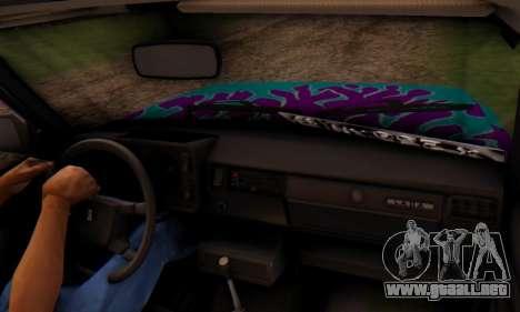 VAZ 2107 Llama Azul para la visión correcta GTA San Andreas