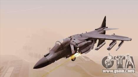 EMB AV-8 Harrier II USA NAVY para GTA San Andreas vista posterior izquierda