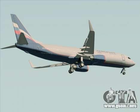 Boeing 737-8LJ Aeroflot - Russian Airlines para GTA San Andreas vista hacia atrás