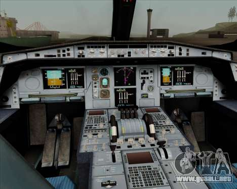 Airbus A350-900 Philippine Airlines para GTA San Andreas interior