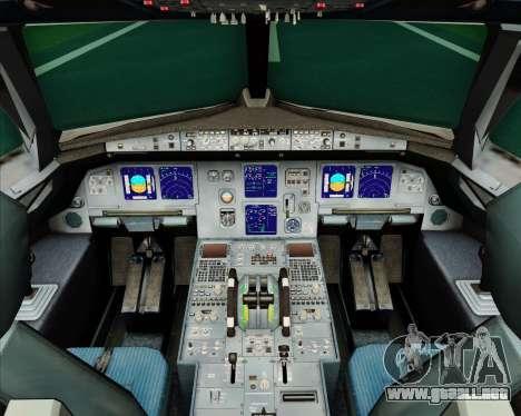Airbus A321-200 Air Jamaica para GTA San Andreas interior