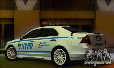 Ford Fusion NYPD v2.0 para GTA San Andreas left
