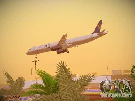 Airbus A321-232 Cyprus Airways para vista inferior GTA San Andreas