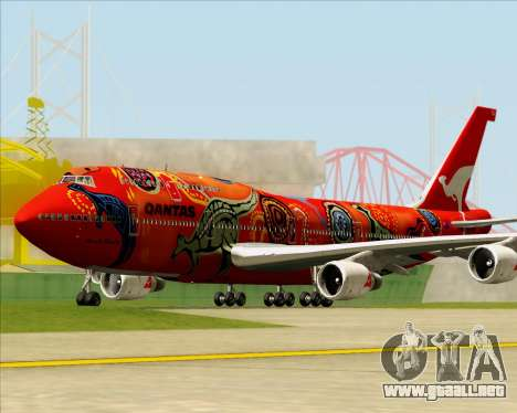 Boeing 747-400ER Qantas (Wunala Dreaming) para GTA San Andreas left