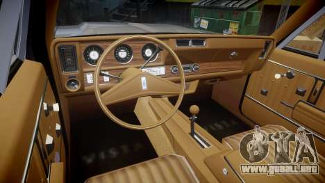 Oldsmobile Vista Cruiser 1972 Rims1 Tree5 para GTA 4 vista hacia atrás