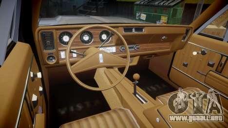 Oldsmobile Vista Cruiser 1972 Rims2 Tree5 para GTA 4 vista hacia atrás