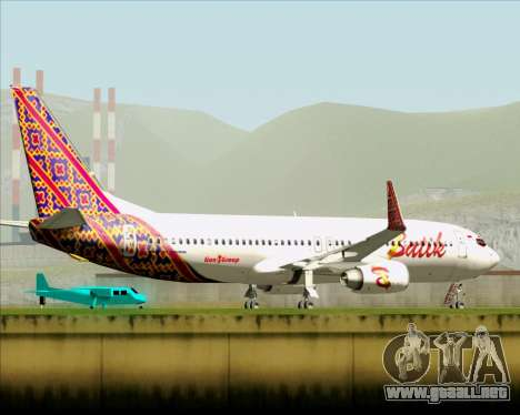 Boeing 737-800 Batik Air para la vista superior GTA San Andreas