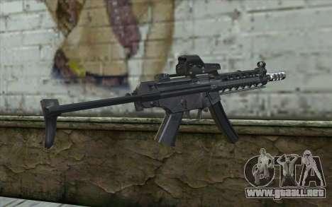 Silver MP5 para GTA San Andreas segunda pantalla