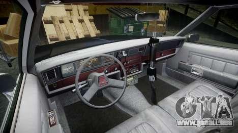 Chevrolet Impala 1985 LAPD [ELS] para GTA 4 vista hacia atrás