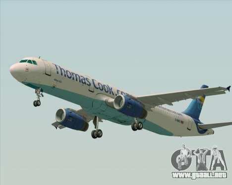 Airbus A321-200 Thomas Cook Airlines para visión interna GTA San Andreas