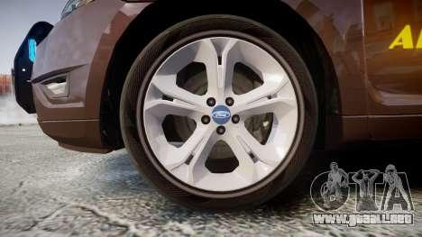 Ford Taurus Sheriff [ELS] Virginia para GTA 4 vista hacia atrás