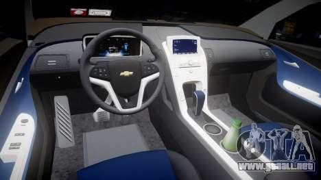 Chevrolet Volt 2011 v1.01 rims2 para GTA 4 vista interior