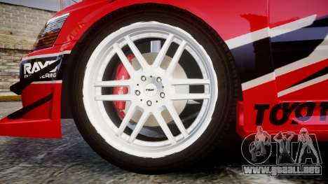 Mitsubishi Lancer Evolution IX Fast and Furious para GTA 4 vista hacia atrás