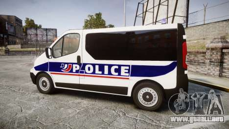 Renault Trafic Police Nationale para GTA 4 left