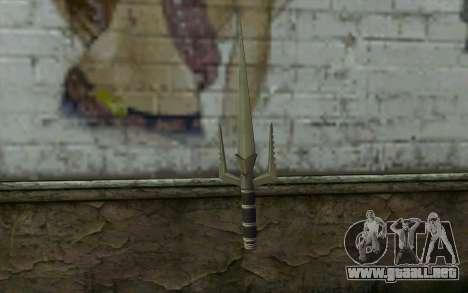 Knife from Deadpool para GTA San Andreas segunda pantalla