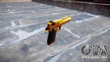 Pistola IMI Desert Eagle Mc XIX Oro para GTA 4 segundos de pantalla