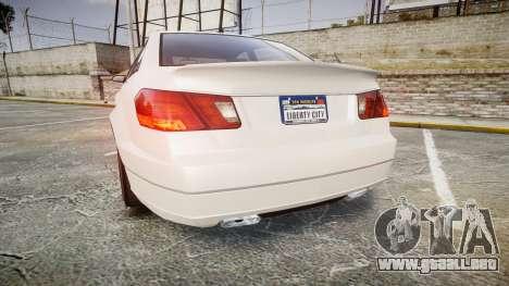 GTA V Benefactor Schafter para GTA 4 Vista posterior izquierda