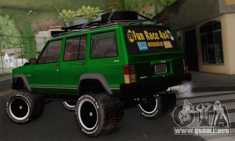 Jeep Cherokee 1998 Off Road 4x4 para GTA San Andreas left