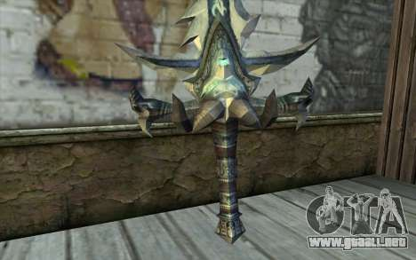 Sword from World Of Warcraft-Frostmourne para GTA San Andreas segunda pantalla