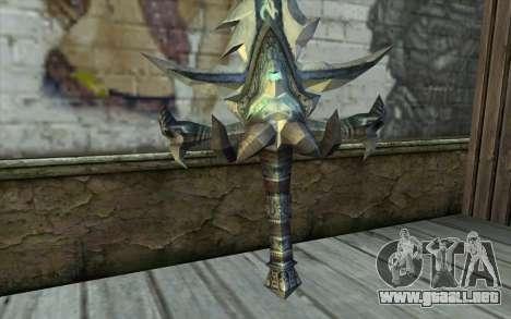 Sword from World Of Warcraft-Frostmourne para GTA San Andreas segunda pantalla