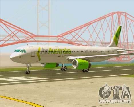 Airbus A321-200 Air Australia para GTA San Andreas left