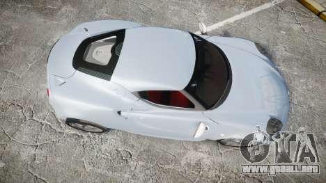Alfa Romeo 4C para GTA 4 visión correcta