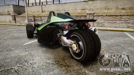 KTM Ducati para GTA 4 Vista posterior izquierda
