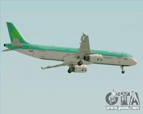 Airbus A321-200 Aer Lingus para la vista superior GTA San Andreas