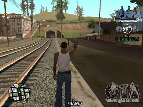 C-HUD Rifa para GTA San Andreas tercera pantalla