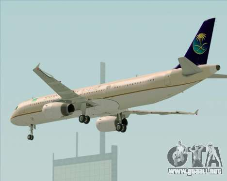 Airbus A321-200 Saudi Arabian Airlines para la visión correcta GTA San Andreas