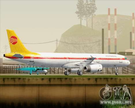 Airbus A321-200 Continental Airlines para las ruedas de GTA San Andreas