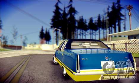Cadillac Fleetwood 1993 Lowrider para GTA San Andreas vista hacia atrás