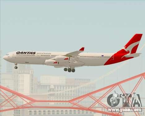 Airbus A340-300 Qantas para la vista superior GTA San Andreas