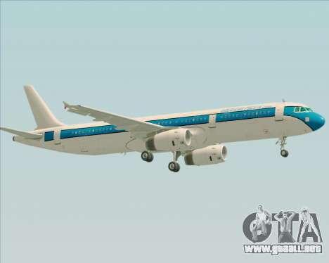 Airbus A321-200 American Pacific Airways para vista inferior GTA San Andreas