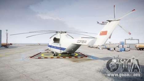 El Mi-26 para GTA 4 Vista posterior izquierda