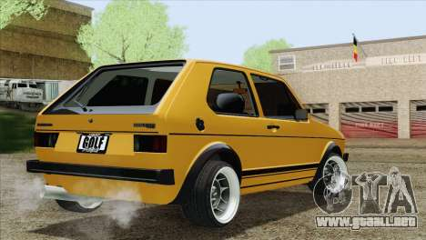 Volkswagen Golf MK1 GTI para GTA San Andreas left