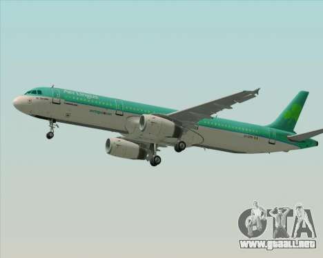 Airbus A321-200 Aer Lingus para el motor de GTA San Andreas
