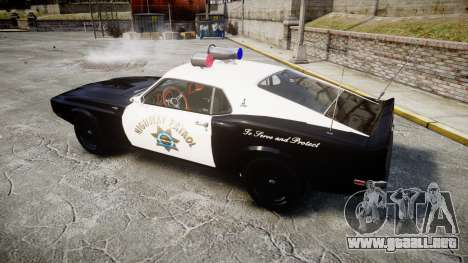 Shelby GT500 428CJ CobraJet 1969 Police para GTA 4 left