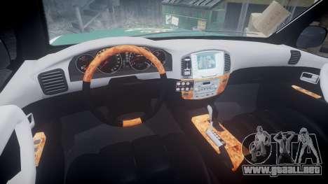 Toyota Land Cruiser Guardia Civil Cops [ELS] para GTA 4 vista hacia atrás