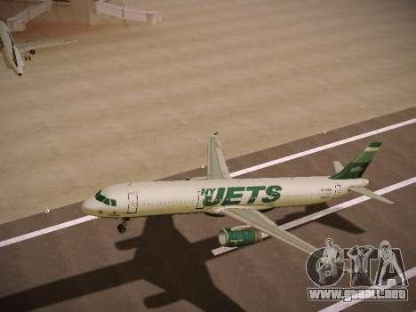 Airbus A321-232 jetBlue NYJets para las ruedas de GTA San Andreas