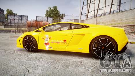 Lamborghini Gallardo 2013 Honoka Kousaka para GTA 4 left