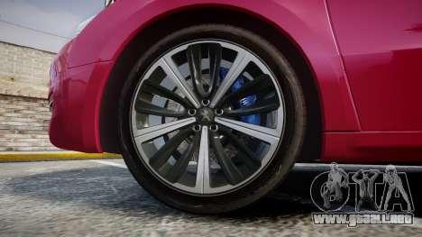 Peugeot 508 v1.2 para GTA 4 vista hacia atrás