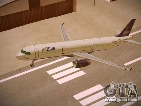 Airbus A321-232 jetBlue Batty Blue para la vista superior GTA San Andreas