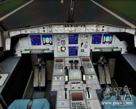 Airbus A340-600 EVA Air para GTA San Andreas interior