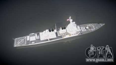 US Navy Destroyer Arleigh Burke para GTA 4 visión correcta