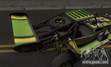 Devilbwoy Buggy para GTA San Andreas vista posterior izquierda