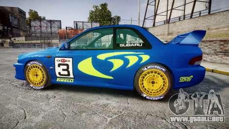 Subaru Impreza WRC 1998 World Rally v3.0 Green para GTA 4 left