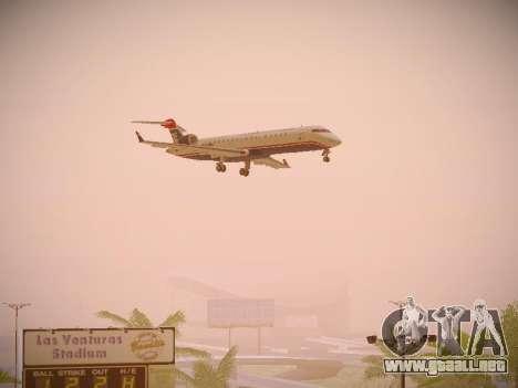 Bombardier CRJ-700 US Airways Express para GTA San Andreas vista hacia atrás