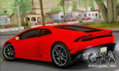 Lamborghini Huracan 2014 Type 2 para GTA San Andreas left